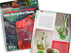 Wolf Art Glass featured in the book Sculpture and Design with Recycled Glass